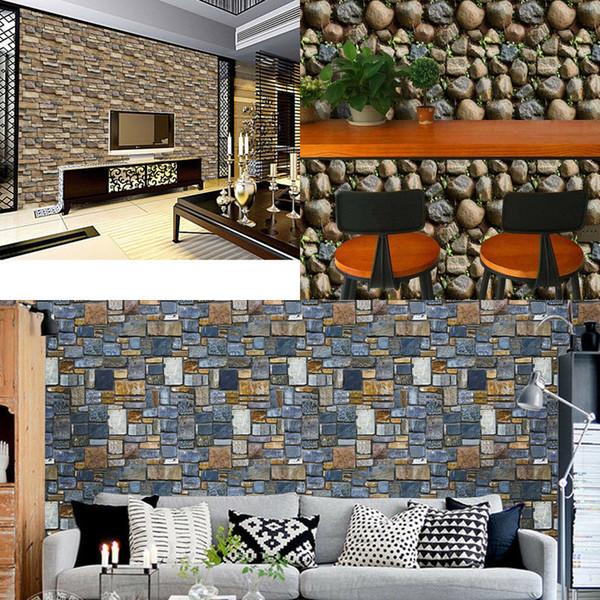 Acheter Diy Brique Effet Tile Autocollants Decor A La Maison Cuisine Salle De Bains Mur Papier Peint Decalque De 2 85 Du Raoying8888 Dhgate Com