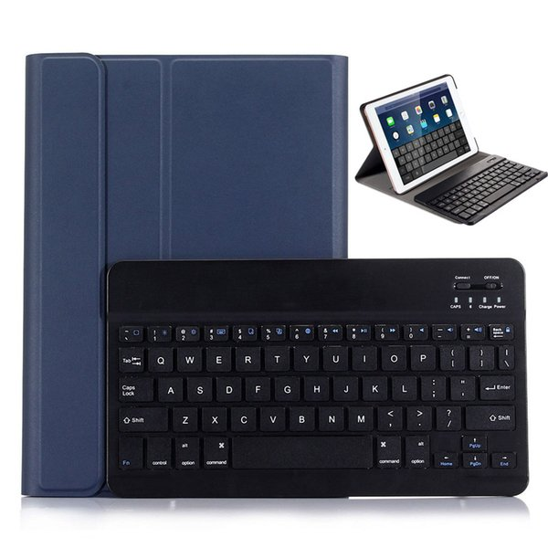 ZELOTES PU Leather Detachable Bluetooth Wireless Keyboard Case For New iPad 2019 Smart Cover For Ipad Air&Air2
