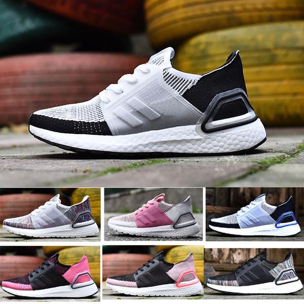 2019 ultraboost 5.0 ultra 19 temizle kahverengi Çok Renkli Primeknit 360 tasarımcı tren Yaz Nefes spor ayakkabı Koşu Sneaker