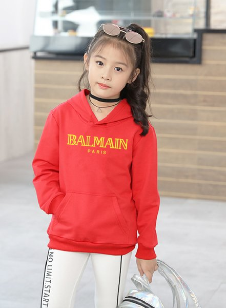 Designer Brand Letter long Sleeve Boys Girls Shirt Jacket Hoodie Sweater 100% Cotton long Sleeve 3 color 2-7T @0225
