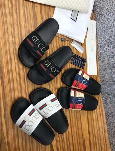 Neue Mode Frauen Männer Casual Peep Toe Sandalen weibliche Leder Hausschuhe Schuhe Jungen Mädchen Luxus Design Flip-Flops Schuhe mit Box # 124