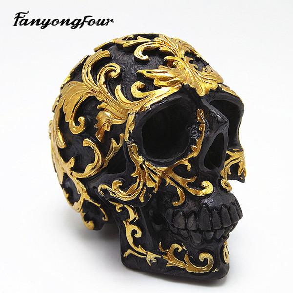 Modèle 3D crâne moule en silicone moule de fondant en résine plâtre chocolat bougie moule livraison gratuite