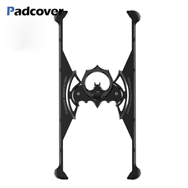 Padcover Bat Ring Holder Shape Metal Airbag Case For Iphone Xr Xs X Xs Max Case With Ring Holder Shell Metal Bumper Cover J190701