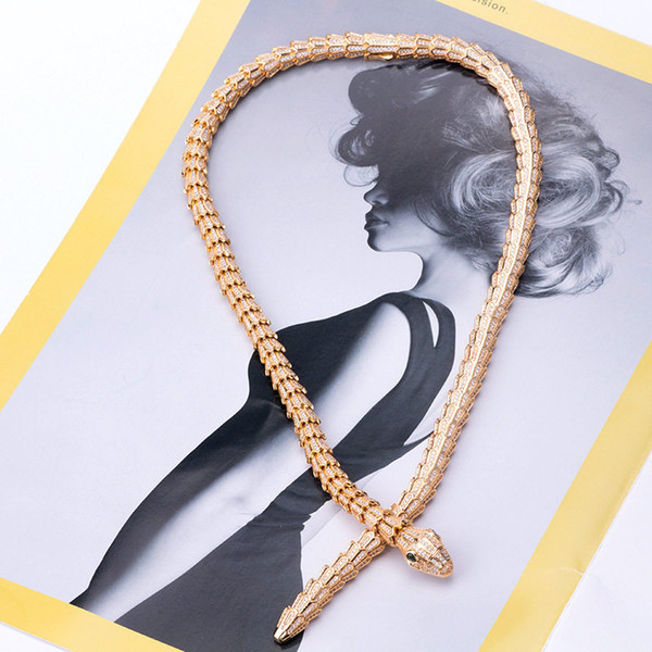 Classic Snake Chains Necklaces Fashion Animals Design Personality Necklace Hot Luxury Gold Silver Rose Craze Snakes Necklaces Lover Gift