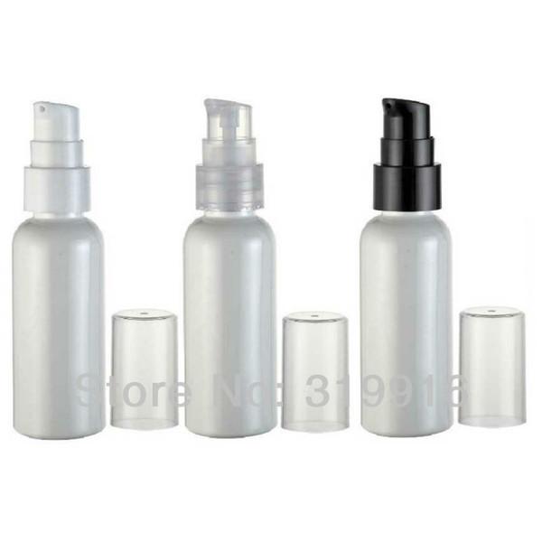 50ml White PET Plastic Bottle Lotion Cream Pump 50g Essential Lotion Treatment Pump Container Travel size Bottles 50pc/lot