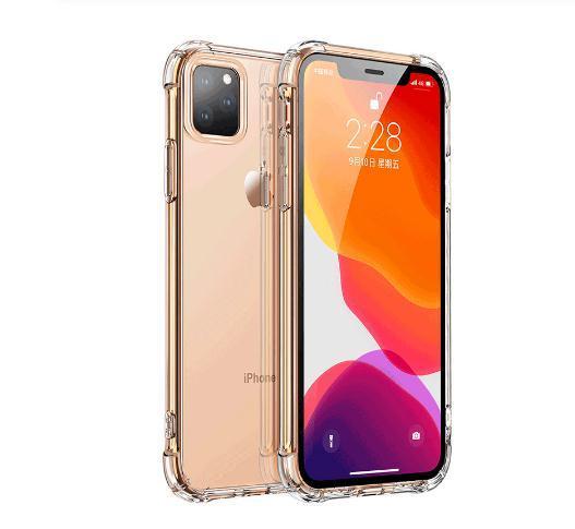 Luxo à prova de choque de silicone caso telefone para o iPhone 7 8 6 6S Plus X XS Max iphone 11 pro Casos Max proteção transparente Back Cove