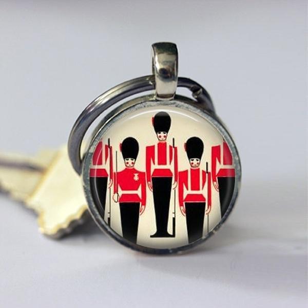 2019 neue Metallschmuck Anhänger Schlüsselbund Queens Guard London England Reisen Schlüsselbund UK Großbritannien Schlüsselanhänger Schlüsselanhänger