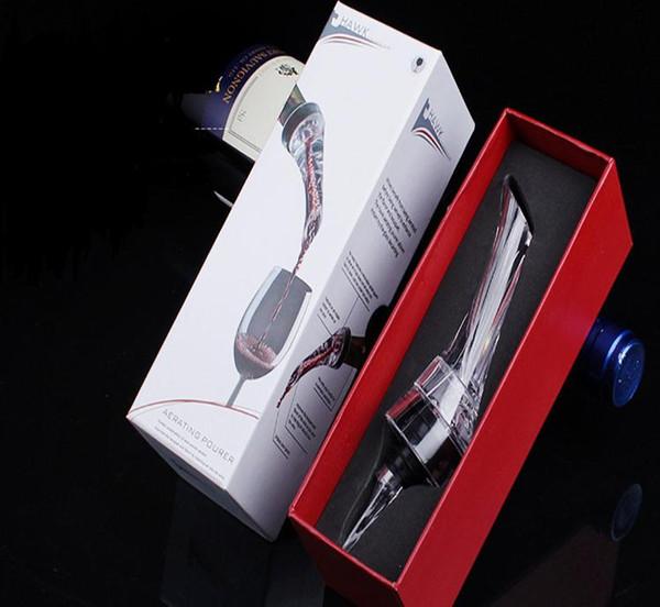 Bottiglia Vino nuovo versatori aeratore del vino rosso che aera Pourer Mini Magic Red Wine Decanter acrilico Filtrare Strumenti Con la scatola al minuto DHL SN79