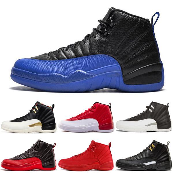 12 12s Chaussures de basket-ball pour hommes FIBA Jeu Royal Reverse Taxi le maître gris foncé Playoffs DOERNBECHER Chaussures de sport pour hommes Baskets Vente en gros