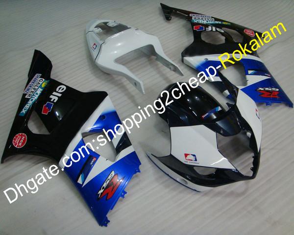 For Suzuki Fairings Set GSX-R 1000 03 04 GSX-R1000 K3 2003 2004 GSXR1000 Black White Blue Fairing (Injection molding)