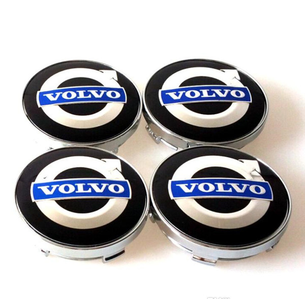 4pcs/set 60mm alloy volvo wheel center caps hub cover car emblem badge blue C30 C70 S40 V50 S60 V60 V70 S80