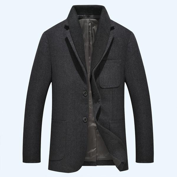 new arrival fashion Winter Men Suit Jacket Thick Fashion Casual Mens Wool Coat Collar detachable size M L XL 2XL 3XL