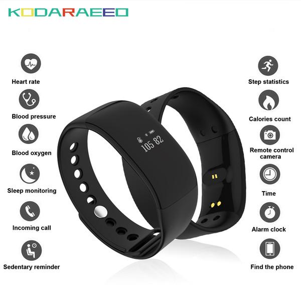 Смарт-часы V66 Ip67 Водонепроницаемый Bluetooth Спорт Смарт-Браслет Трекер Сердечного ритма Здоровье Смарт-Браслет Для Android Ios Телефон J190515