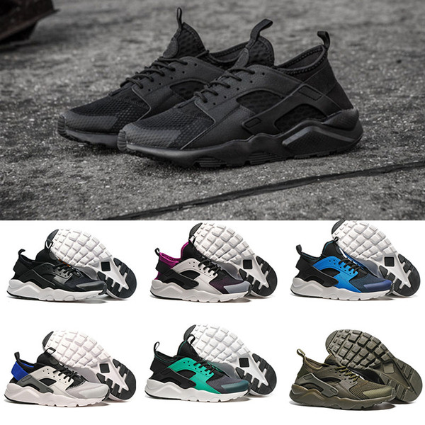 Huarache 1 IV Classic Triple black white red Grey Gold Running Shoes Men Women Huaraches Ultra Outdoor Athletic Sport Sneaker US 5.5-11