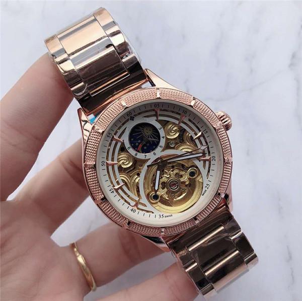 Venta al por mayor de lujo para hombre Sport Tourbillon reloj 42 mm movimiento automático masculino reloj del tiempo reloj mariposa hebilla montres de designer pour hommes