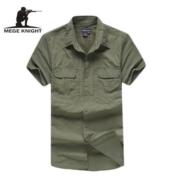 0e61dc00e0c Тактическая военная рубашка Мужская дышащая быстросохнущая армейская рубашка  армии США Лето Coolmax