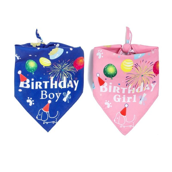 top popular Pet birthday Dog Bandana Cotton Scarf Bib Flower Grooming Accessories Triangular Bandage Collar For Small Medium Large Pet Fashion Design 2020