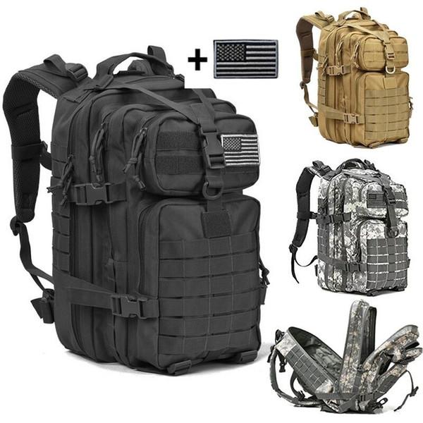 34L Pacote de Assalto Mochila Mochila Exército Exército À Prova D 'Água Bug Out Saco Pequeno Mochila para Caminhadas Ao Ar Livre Camping caça