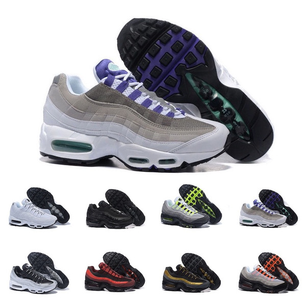 Compre Nike Air Max 95 Good Neon Men'running Shoes For Women Sneakers Sports 97 Designer Trainer Black White Colors Ventas Calientes A $80.41 Del