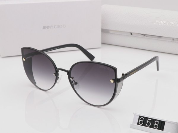969e73d4be67c Wayfarer nova moda mulheres JC 658 óculos de sol olho de gato quadro de  metal óculos