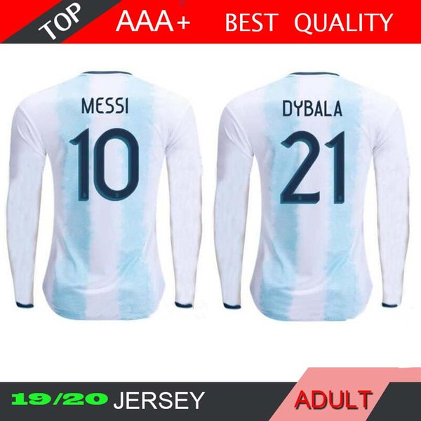 MESSI 20 19 Argentina KUN AGUERO 2019 2020 Long Sleeve DI MARIA MARADONA HIGUAIN TEVEZ DYBALA LAVEZZI PEREZ LAMELA PASTORE Soccer Jerseys
