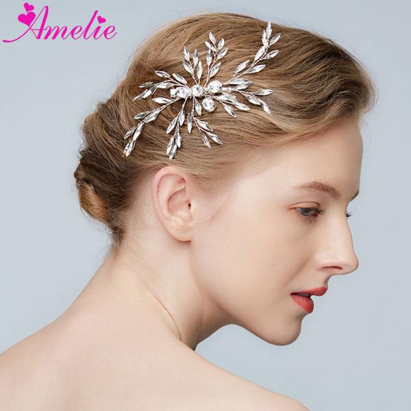 Shiny Barrette Bridal Headpiece Wedding Rhinestone Hair Clip Women Head Ornaments Prom Party Halo Accessories