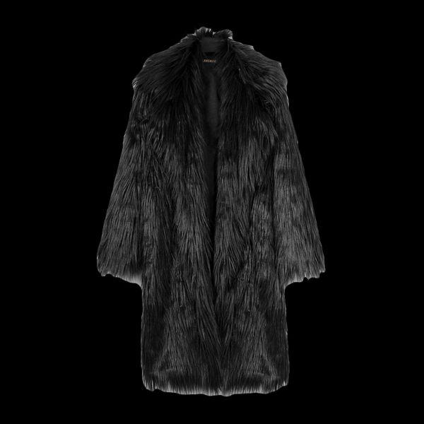 Abrigo para hombre Chaqueta de piel sintética Abrigo de piel sintética para hombre Otoño Invierno Trench largo Color Blanco / Gris / Negro / Rosa / Inky verde
