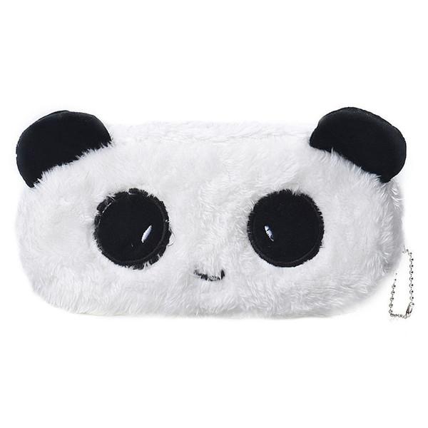 Kids Cartoon Pencil Case Plush Large Pen Bag Cosmetic Makeup Cartoon Storage Bag panda