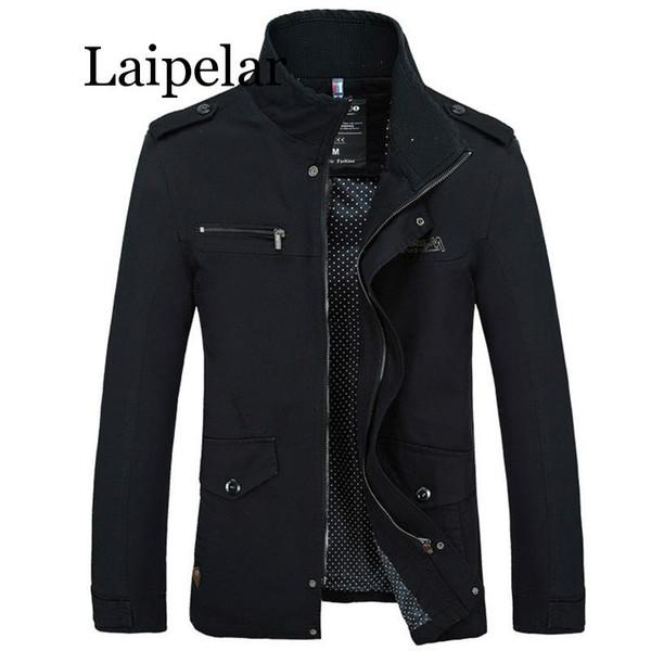 Laipelar Hommes Veste Manteau Nouvelle Mode Trench-Coat Nouvelle Automne Marque Casual Silm Fit Pardessus Veste Mâle