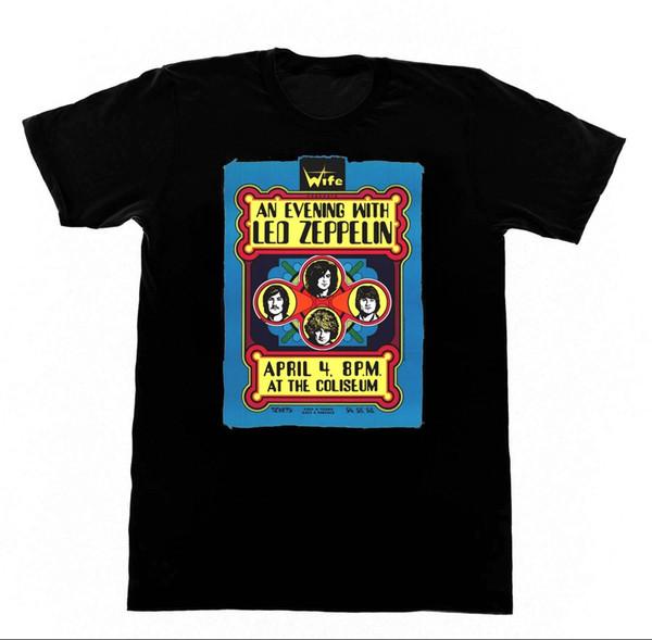 Led Zepplin - T-shirt Vintage Affiche de Concert Shirt M20 de Robert plante Jimi Page