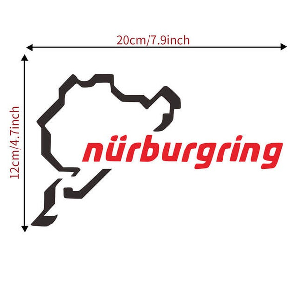top popular The Racing Track Nurburgring Sticker Funny Window Car Decal ILLEST Sign Vinyl dropshipCA-598 2021