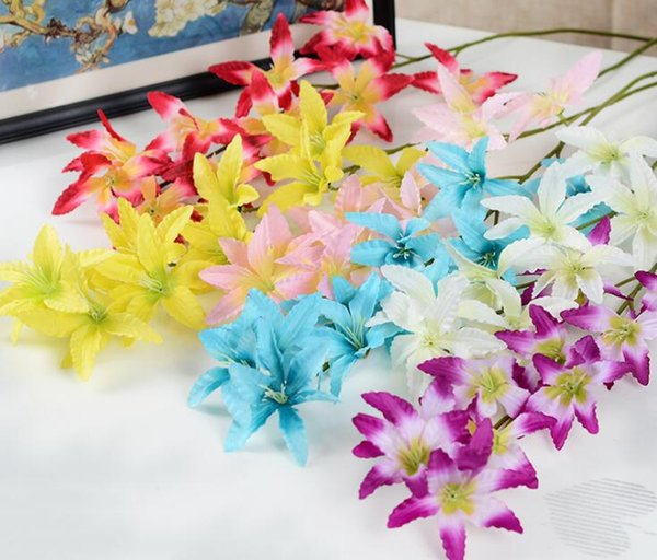Artificielle Thaï Orchidée Fausses Fleurs D'orchidées En Soie Bouquet De Fleurs Multi Couleurs pour Mariage Home Party Décoration