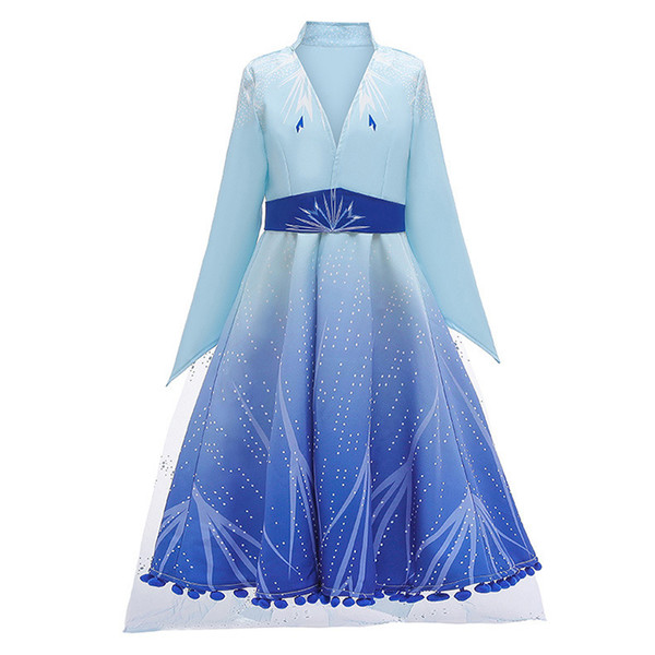 best selling 2019 New  Princess Cosplay Clothing Freeze Girls Costumes Children Winter Dress Kids Dresses Cotton Party Clothes 4-12 Years