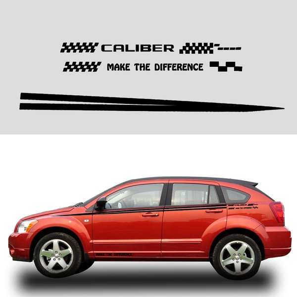 Car Sticker For Dodge Caliber Car Side Body Decals Vinyl Truck Vehicle Body Decoration Accessories Black Or White