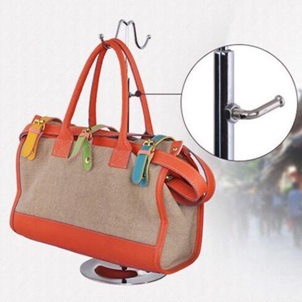 Doppelhaken Gebogener Haken Leicht Hängende Taschen Verstellbarer Handtaschenhalter Display Seidenschals Aufbewahrungstasche Haken Perücke Aufhänger Ständer CCA10000 p