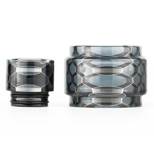 Snake Skin Convex Resin Tube with Mouthpiece Cobra Drip Tip for Eleaf Ello POP Atomizer 6.5ML Fit iStick Mix Kit etc