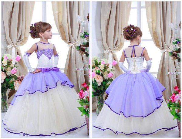 2019 Lace Flower Girl Dress for Wedding Birthday Party Girls Dresses Children's Costume Teenage Girls Kids Summer Clothes