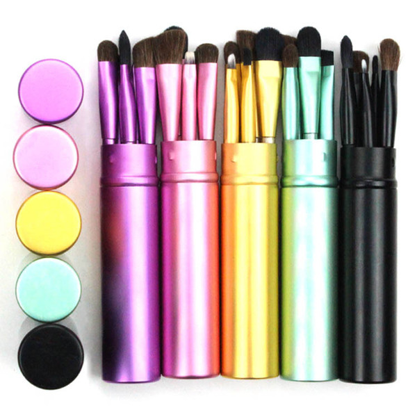 Wholesale Makeup Brushes Set Woman Makeup Tools Cosmetic Kit 5Pcs/Set Portable Eye Shadow Brush Set
