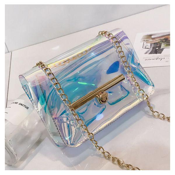 Fashion Shoulder Bag Women's Clear Transparent PVC Tote Girls Multifunction Composite Crossbody Bags New Handbag Messenger Bag