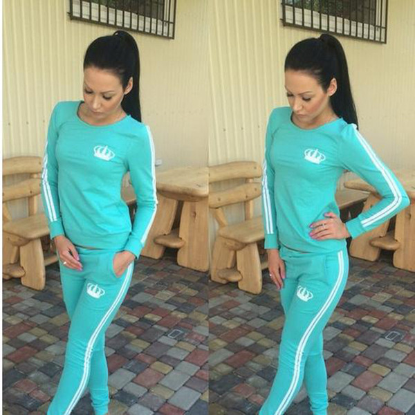 2017 Autumn Jogging Suits For Women Tracksuits Womens Sport Set Ladies Running Sportwear 2 Piece Set