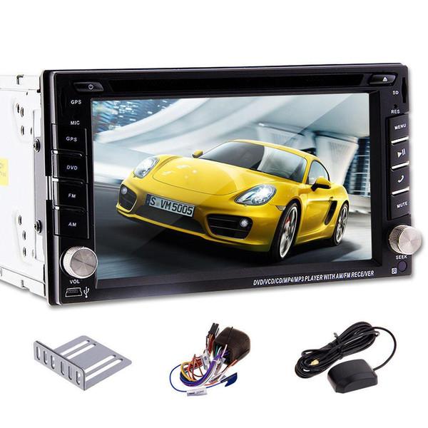 100% Nouvel universel Autoradio Double 2 din Voiture Lecteur DVD Navigation GPS Au tableau de bord PC Stéréo Unité de tête vidéo + Carte gratuite