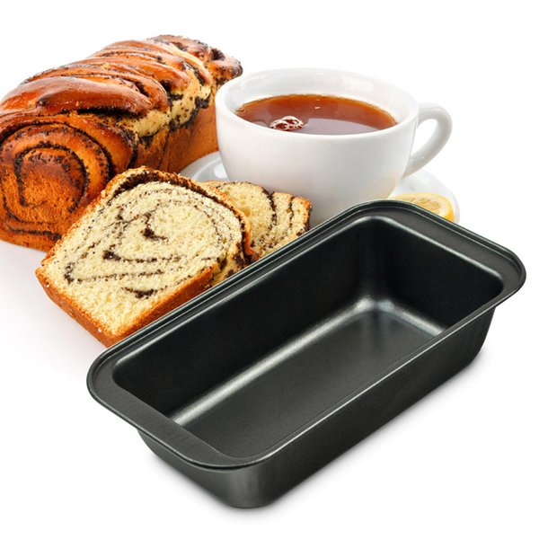 """8.5"""" Non-stick Carbon Steel Bread Pan Rectangular Black Toast Loaf Cake Baking Tray Mould Bakeware patisserie accessoire"""