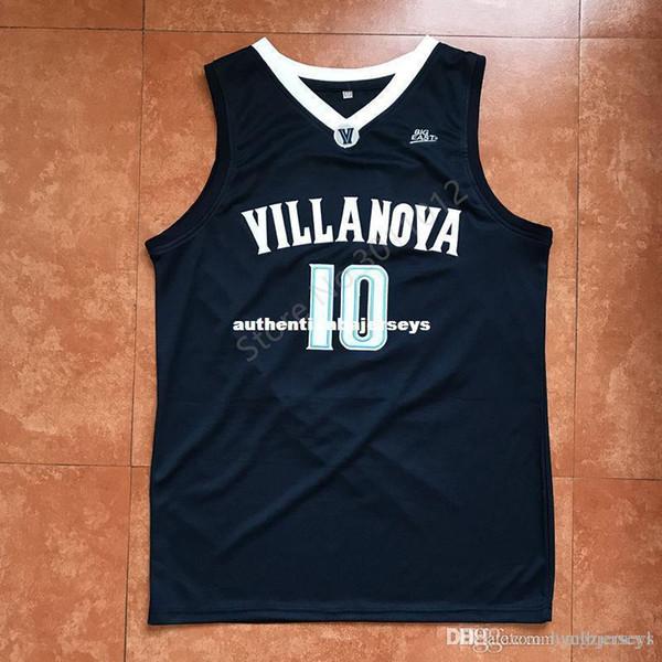 2018 Nouveau # 10 Donte Divincenzo Villanova College Top Basketball Jersey Cousu Top Gilet Qualité Maillots Ncaa