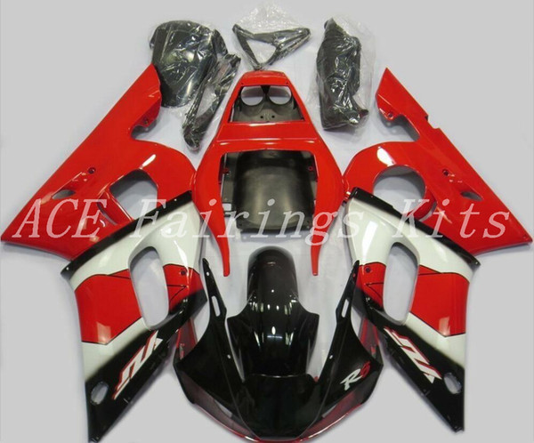 High quality New ABS motorcycle fairings fit for YAMAHA YZF R6 1998 1999 2000 2001 2002 YZF R6 98 99 00 01 02 fairing kits custom red black