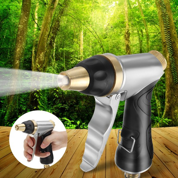Adjustable Copper Hose Spray Nozzle Water Pressure For Garden Watering/Cars Vehicles Washing