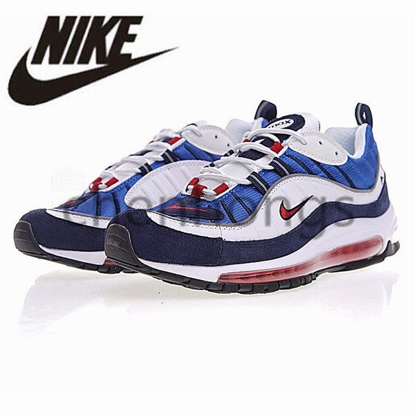 designer fashion 08bd6 1674a 2019 Original Authentic Nike Air Max 98 Men Women 98s White Breathable Airs  Running Shoes Maxs Sport Outdoor Sneakers Athletic Designer 640744 ...