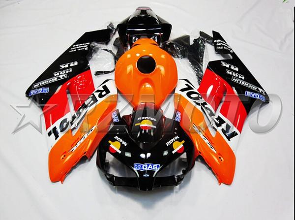 Nuevo kit de carenados ABS de motocicleta de molde de inyección nuevo apto para HONDA CBR1000RR 2004 2005 04 05 CBR1000 bonito naranja negro rojo