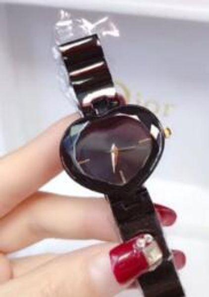 Reloj Hombre 2019 Women Wrist Watch Luxury Women diamond heart watch Waterproof Glass Unique CloCK Items