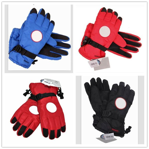 Brand Down Gloves Canada Windproof Warm Finger Glove Unisex Thick Winter Goose Mittens Designer Skiing Oudoor Gloves for Men Women Handwear