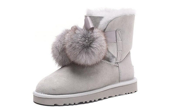 Waterproof HOT SELL CLASSIC SHORT WOMEN SNOW BOOTS FUR INTEGRATED KEEP WARM BOOTS SHOES WGG W IS THE U BEST CHRISTMAS GIFT US4-UDS12